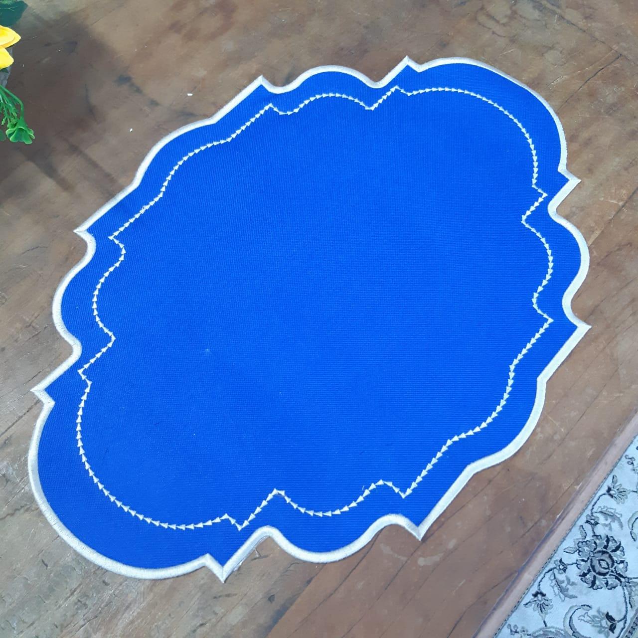 Jogo Americanos Acabamento em Bordado - Azul (1un)
