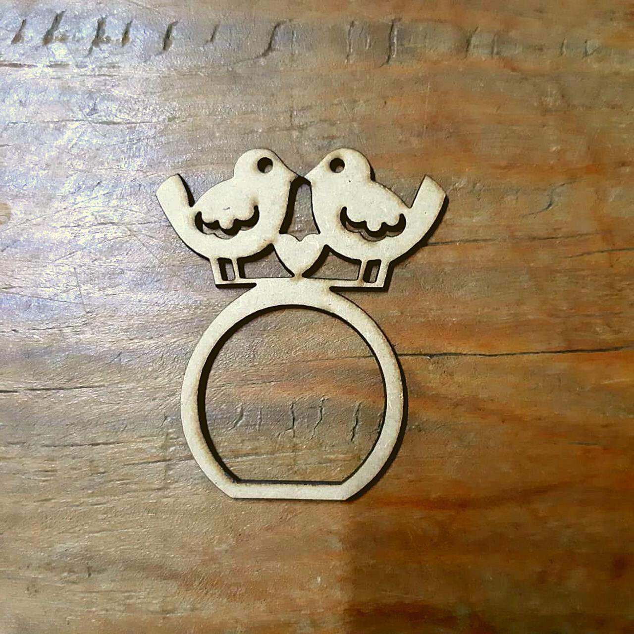 2 Porta Guardanapo Pombinhos de MDF