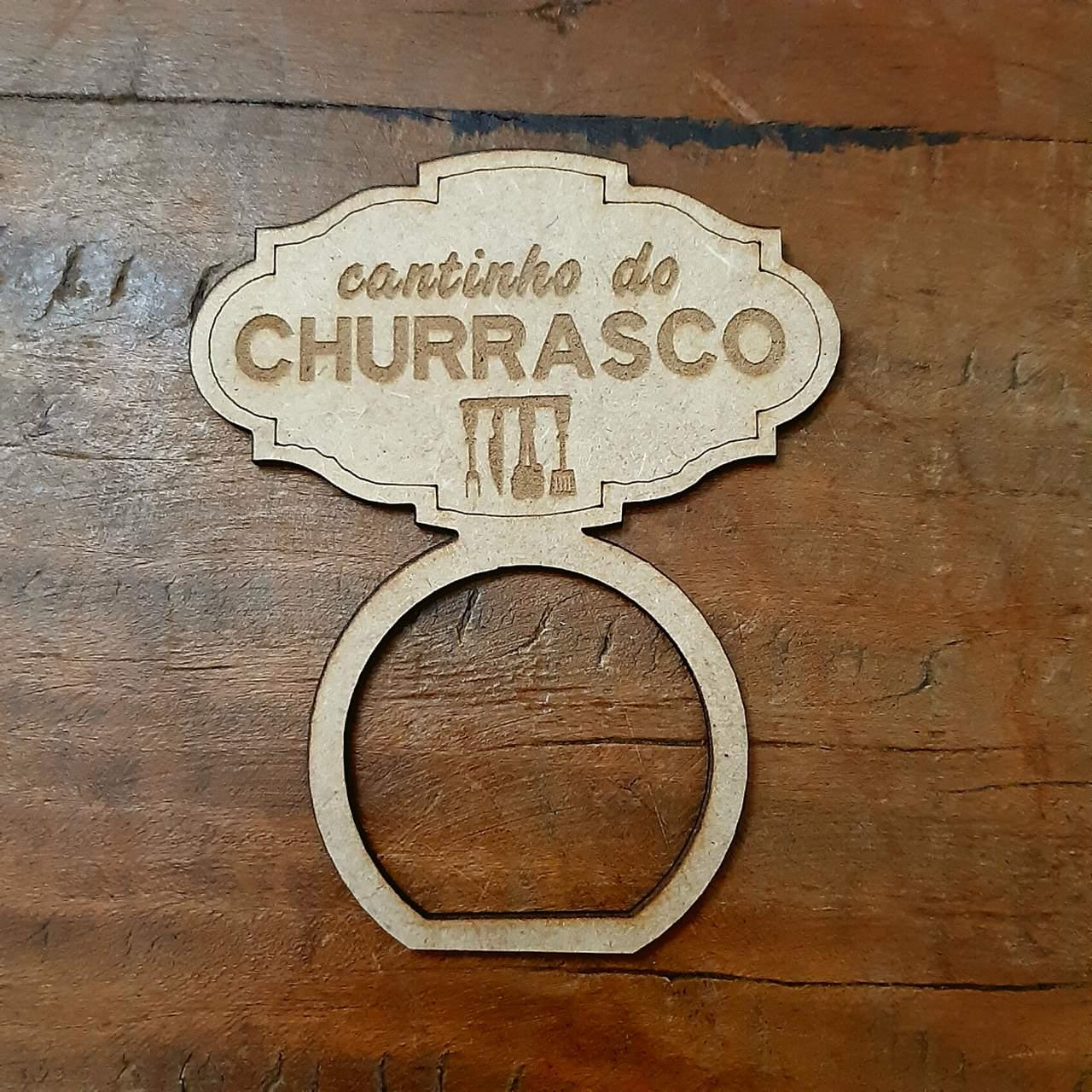 Porta Guardanapos MDF Cantinho do Churrasco (1un)