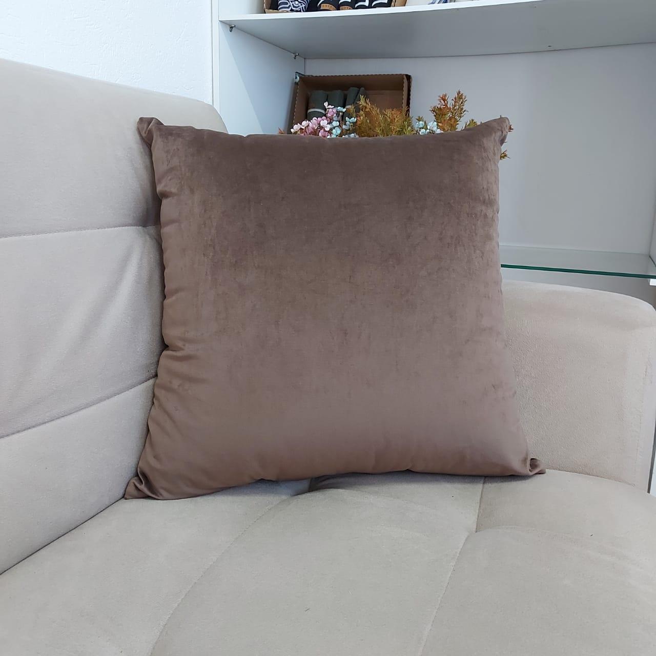 Almofada Lisa 50cm x 50cm em Veludo (1un)