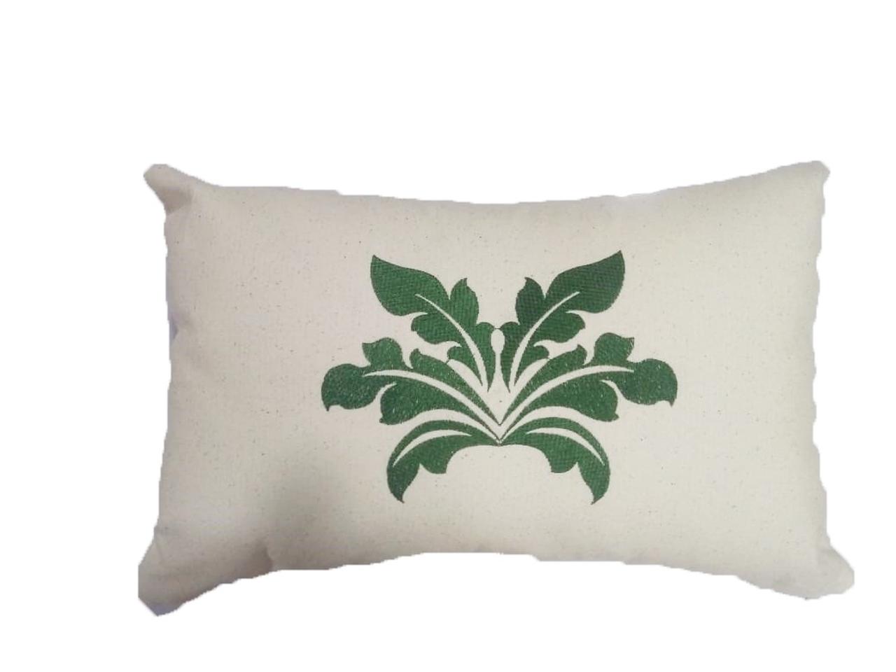 Almofada Bordada em Linho - Flor de Lis C
