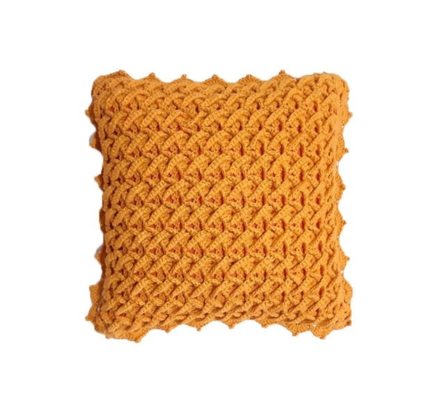 Capa de Almofada decorativa de Crochê