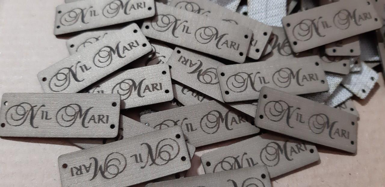 Etiquetas Em Couro Sintético #personalizada Com Sua Marca 100un