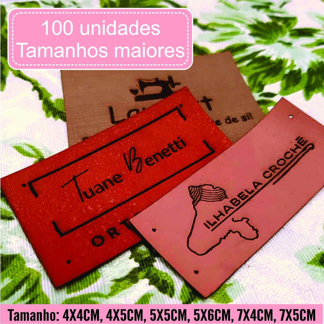 Etiquetas M. Sintético Personalize Com Sua Marca G 100un
