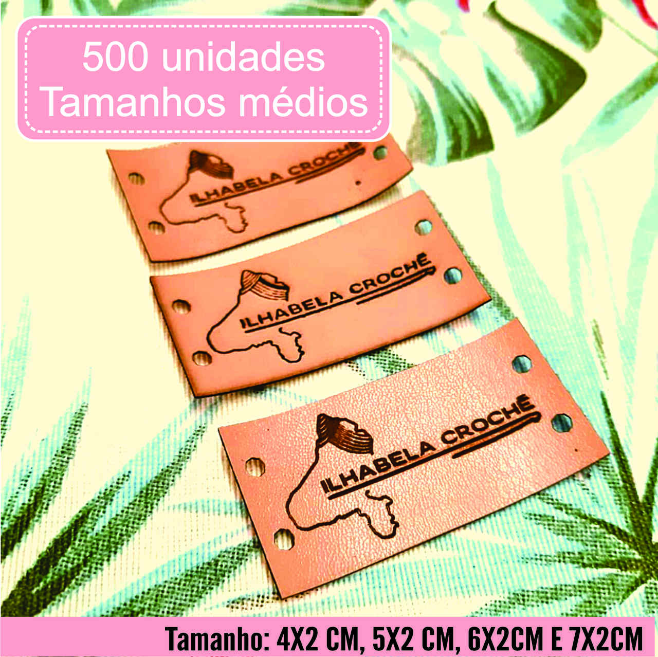 Etiquetas M. Sintético Personalize Com Sua Marca M 500un