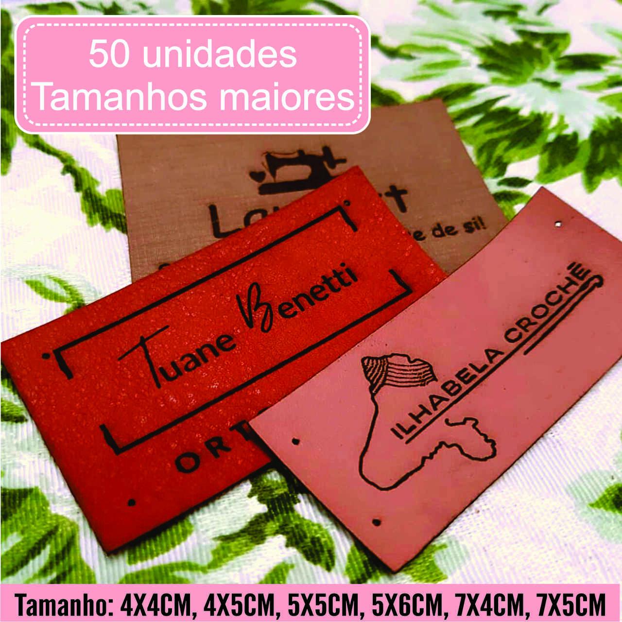 Etiquetas M. Sintético Personalize Com Sua Marca G 50un
