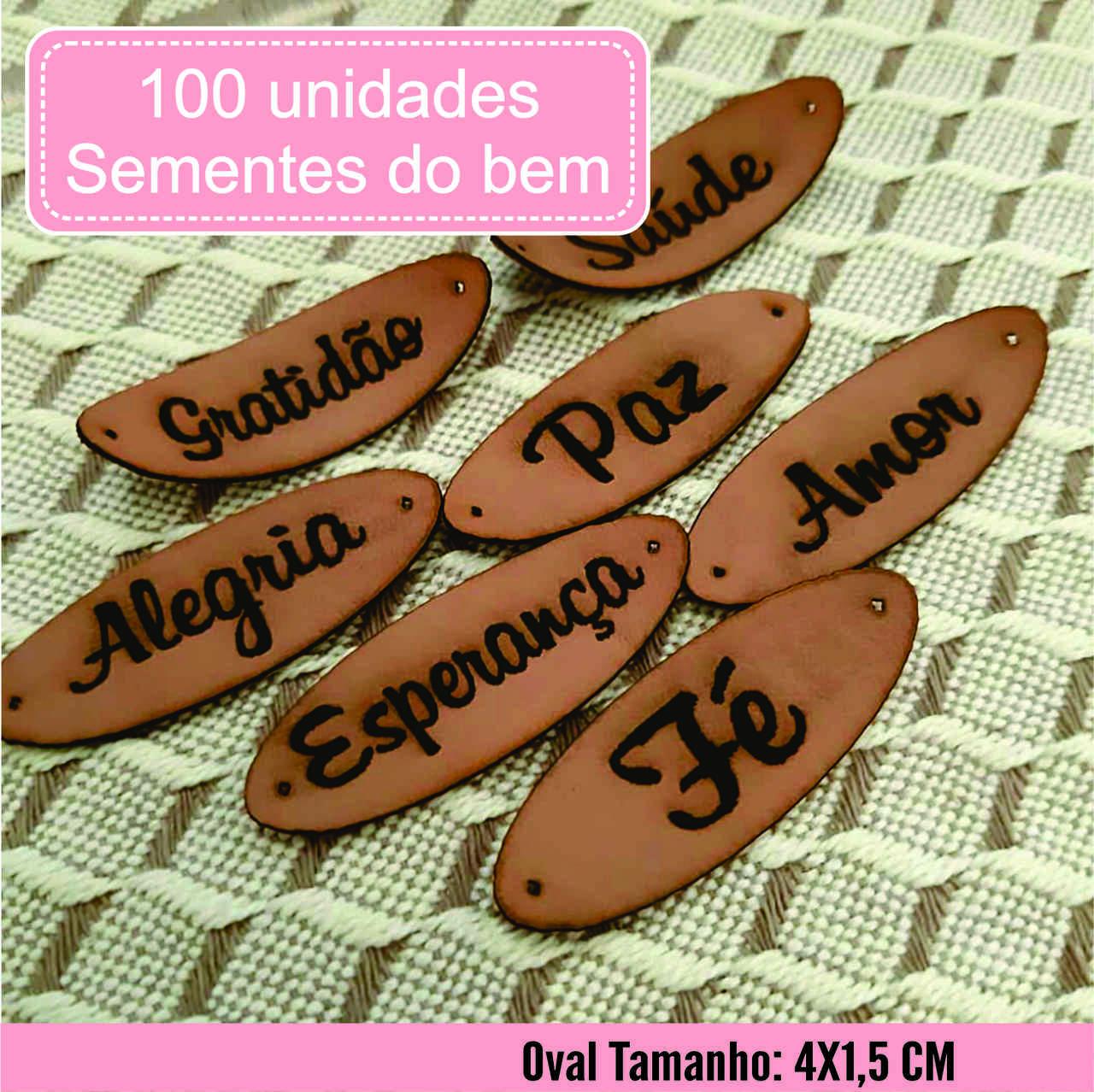 Etiqueta M. Sintético Sementes do Bem Pronta Entrega O 100un