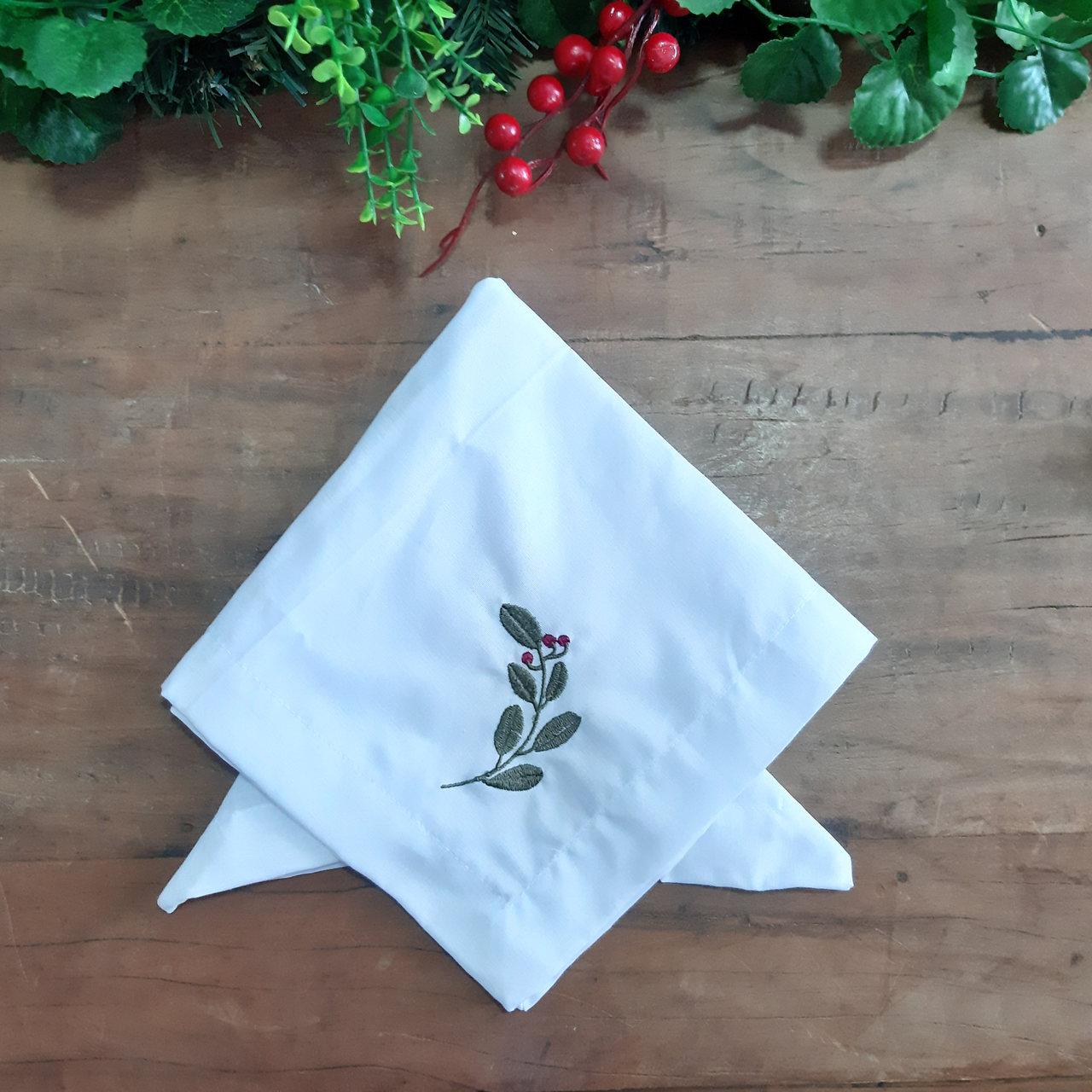Guardanapo Canto Mitrado - Branco - Orquídea