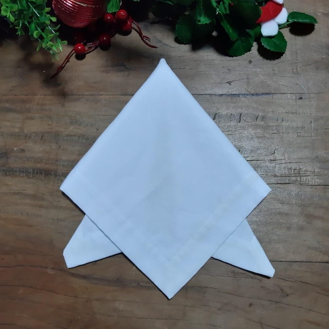 Guardanapo de C. Mitrado Liso de Natal - Branco