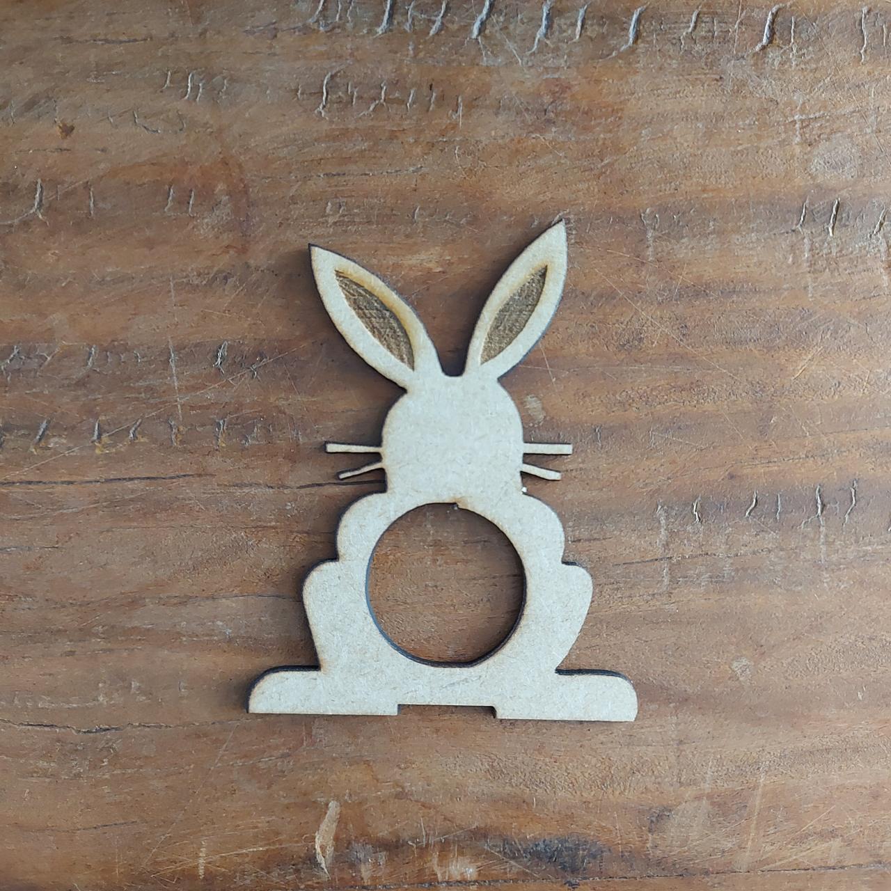 Kit de 4 Porta Guardanapos de Coelho de Páscoa de Frente
