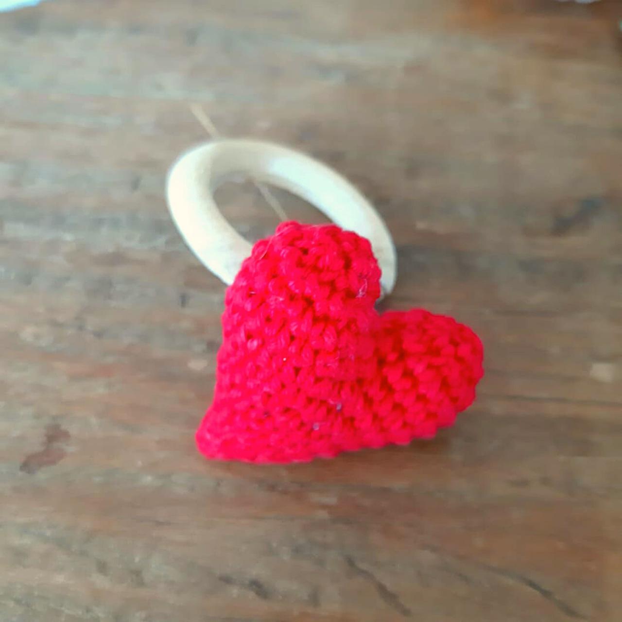 2 Porta Guardanapos Coração de Crochê
