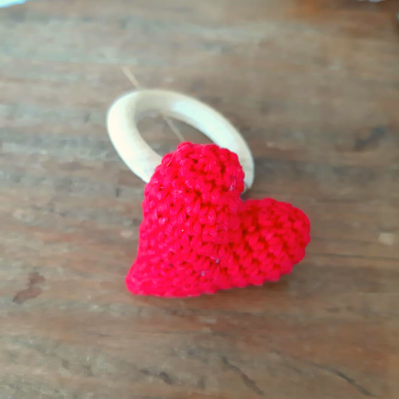 Porta Guardanapo Coração de Crochê (1un)