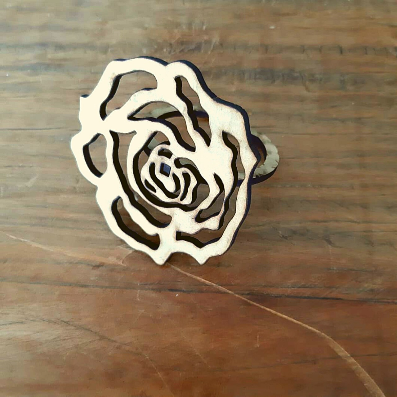 Porta Guardanapo MDF Formato de Rosa (1un)
