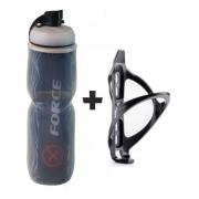 Garrafa Térmica X-force 700ml + Suporte Caramanhola P/ Bike