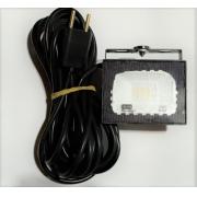 Kit 5 Refletores 20W - Com Imã e cabo 7m Prova d'água