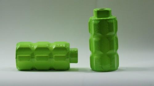 Apoio Pedaleira Bike Trolhão De Alumínio - Par!! Verde Neon