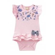 Banho de Sol Bebê Feminina Milon Floral Rosa