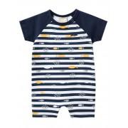 Banho de Sol Bebê Masculino Milon Listrado Azul