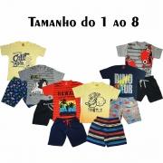 kit com 5 Conjuntos Infantis Verão para Menino.