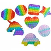 Pop It Fidget Rainbow Bolha Brinquedo Anti Stress Ansiedade Anúncio com variação