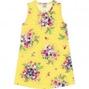 Vestido Intantil Floral Rovitex Amarelo