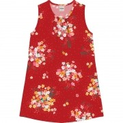 Vestido Intantil Floral Rovitex Vermelho
