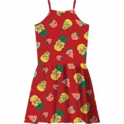 Vestido Verão Infantil Rovitex Vermelho