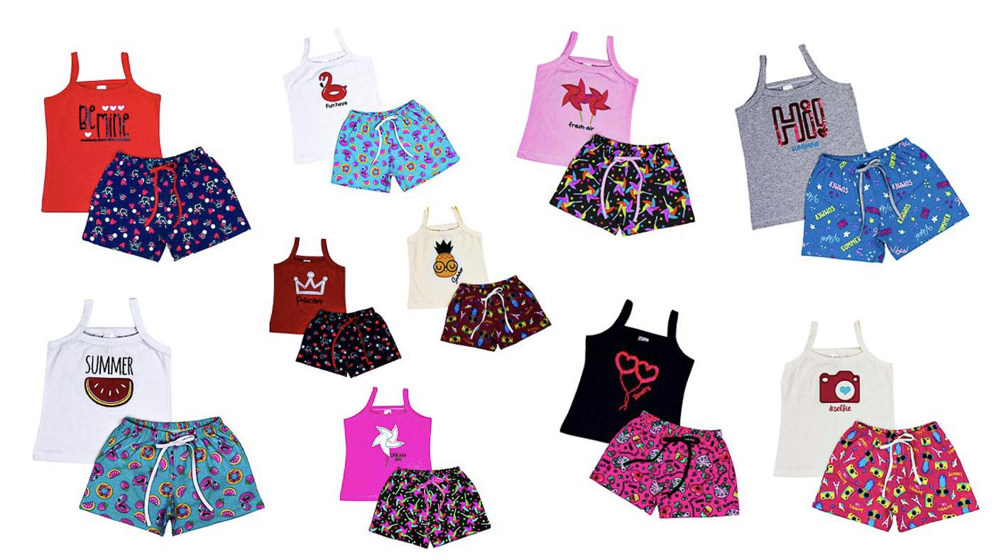 Kit 5 Conjunto Infantil Juvenil Menina Roupa Feminina Atacado
