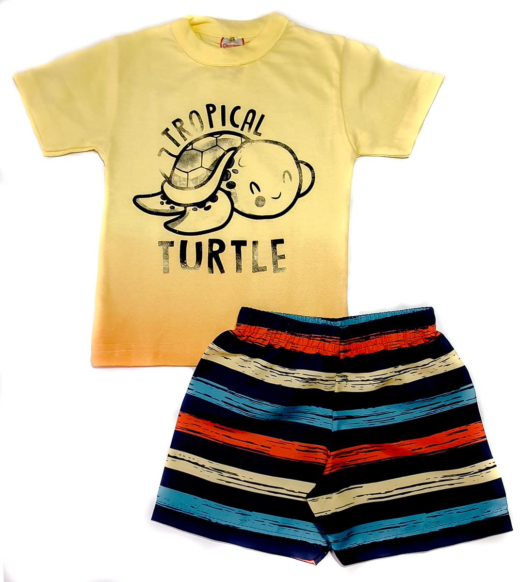 kit com 3 Conjuntos Infantis Verão para Menino