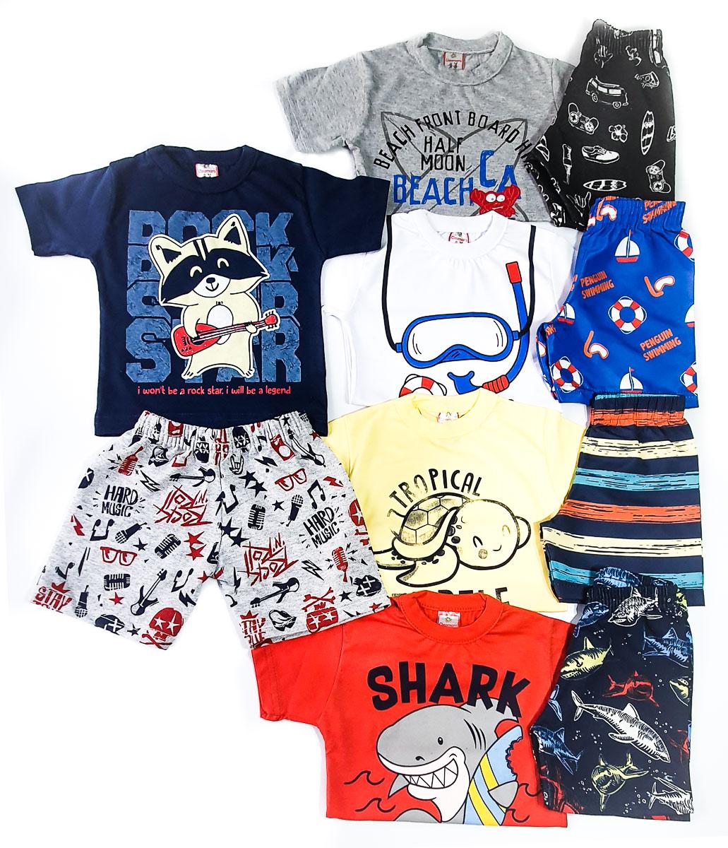 kit com 5 Conjuntos Infantis Verão para Menino