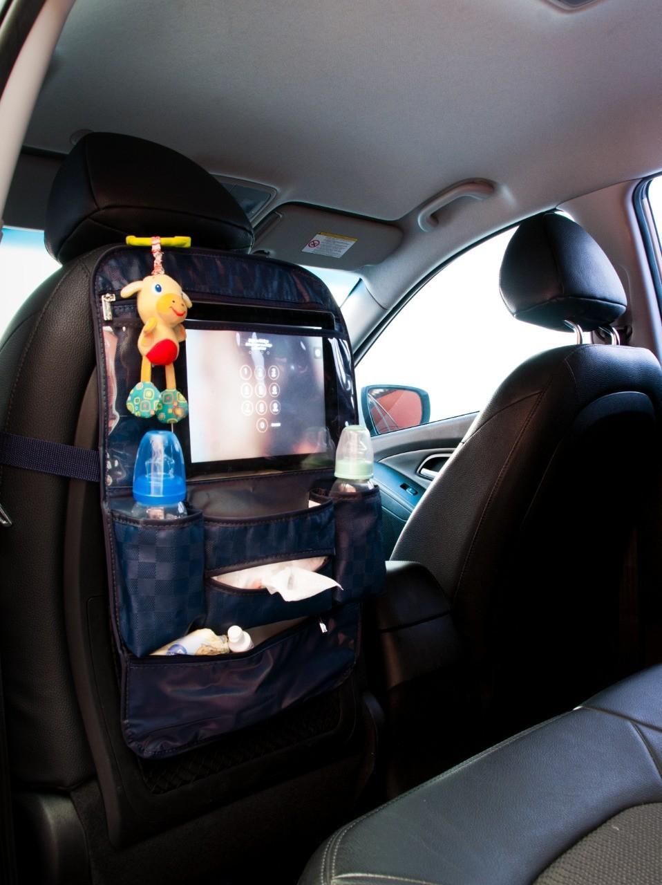 Organizador Infantil para Carro Azul Marinho