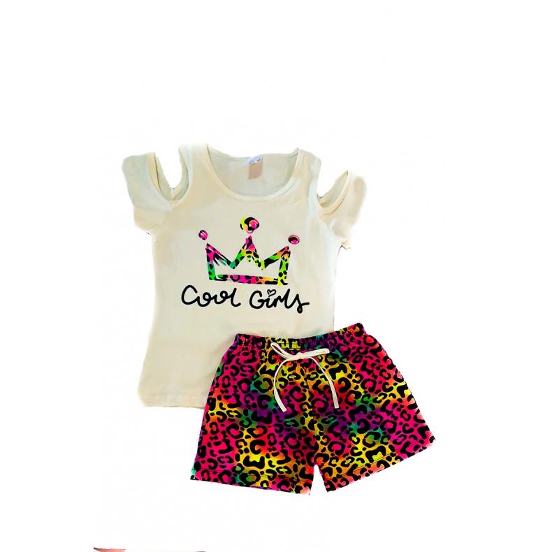 Roupa Infantil Feminina 08/09/10 Anos Kit 4 Conjuntos Verão