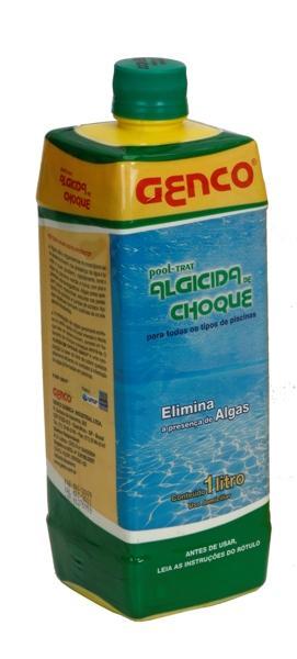 Algicida de Choque Pool Trat - Genco - Frasco de 01 Litro