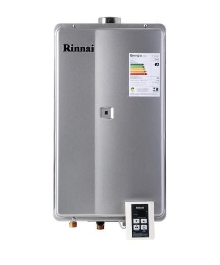 AQUEC. GAS RINNAI 2802 - 35 L/MIN - GLP - PRATA