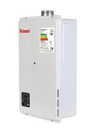 AQUEC. GAS RINNAI E33 - 32,5 L/MIN - GN - BRANCO
