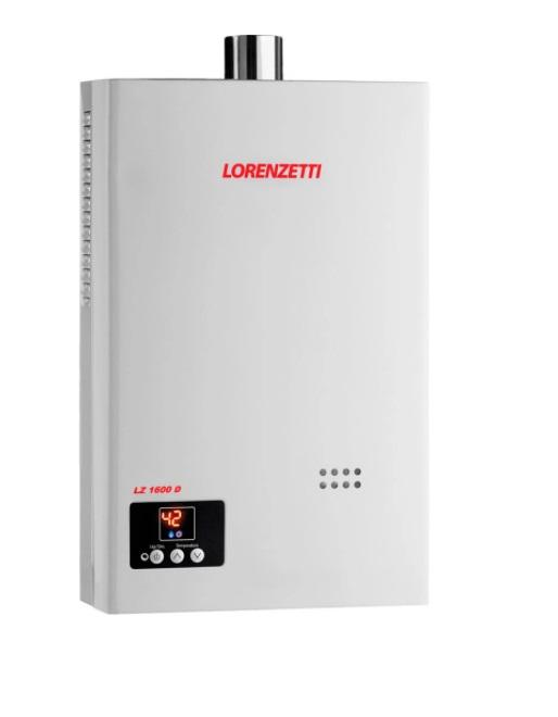 Aquecedor Gás Lorenzetti Mod LZ 1600DE - 15 L/Min