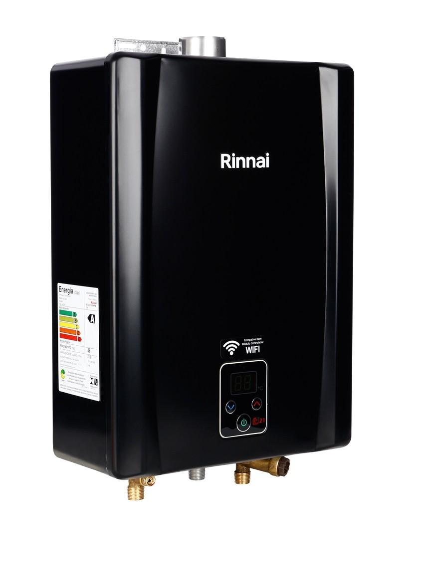 Aquecedor Gás Rinnai Mod. E21 - 21L/Min - Linha BLACK