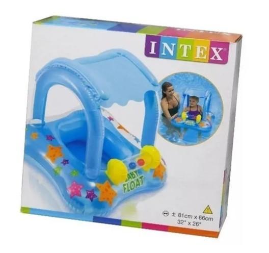 BABY BOTE KIDDIE COM COBERTURA INTEX
