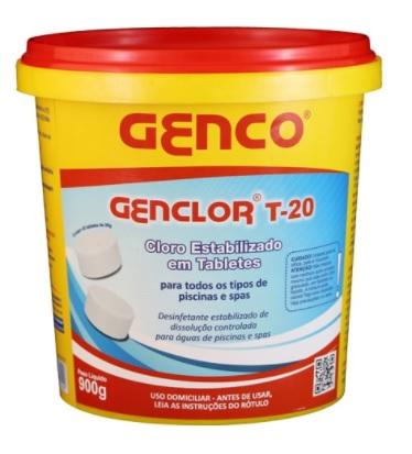 Balde de cloro em tabletes Genclor T-20 com 900 gramas