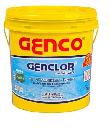 Balde de Cloro Genco - Genclor 10 Kgs