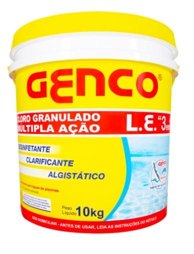 Balde de Cloro marca Genco L.E 3 em 1 Multi ação 10Kgs