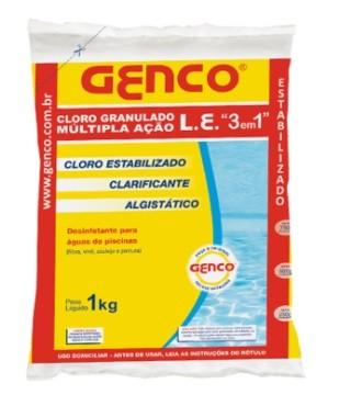 CLORO GRANULADO L.E 3 EM 1 - GENCO 1KG