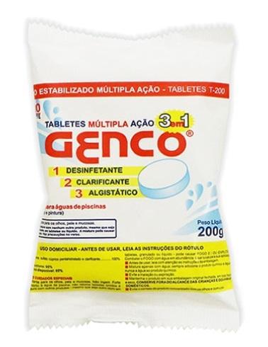 GENCO - Cloro Tripla Ação Tablet 200 Gramas