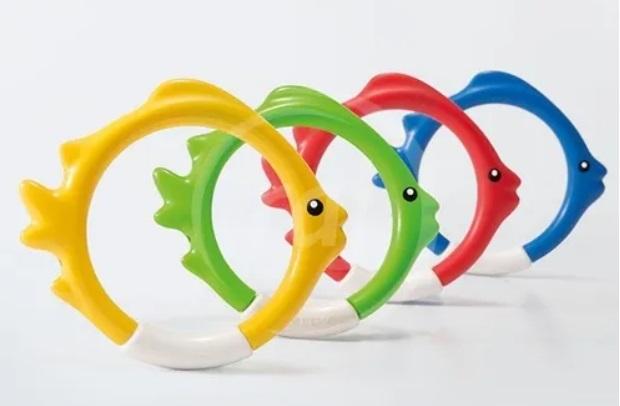 Jogo de Argolas Peixes Para fundo de Piscina Intex