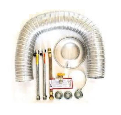 Kit Hidrauli 04 - Flex. Ligação Padrão 40cm + Chaminé até 2mts de 60 mm