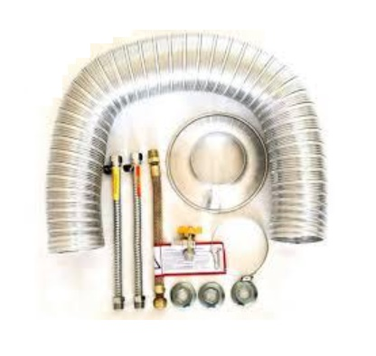 Kit Hidrauli 05 - Flex. Ligação Padrão 40cm + Chaminé até 2mts de 80 mm