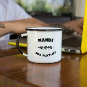 Caneca esmaltada Mande sua Playlist
