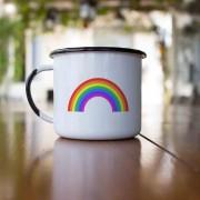 Caneca esmaltada Rainbow