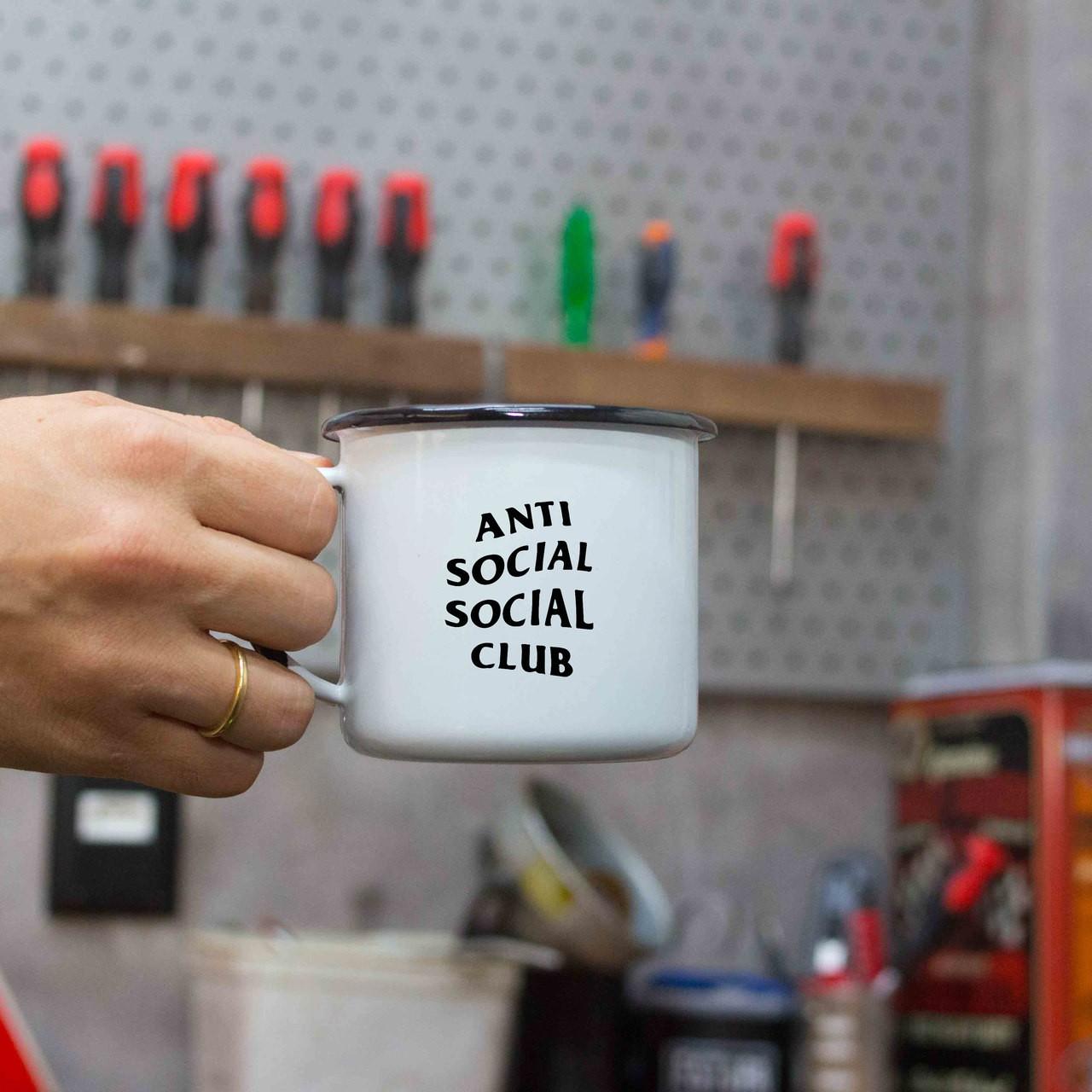 Caneca esmaltada Anti Social Social Club