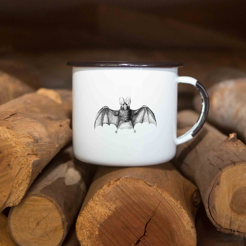 Caneca esmaltada Morcego